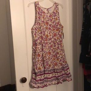 Pink and yellow floral dress